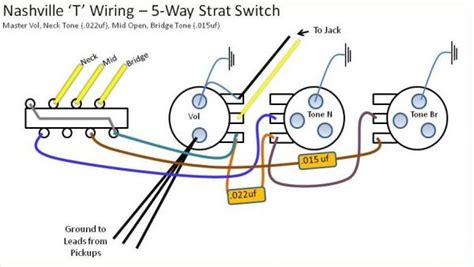 nashville telecaster wiring 5 way switch diagram