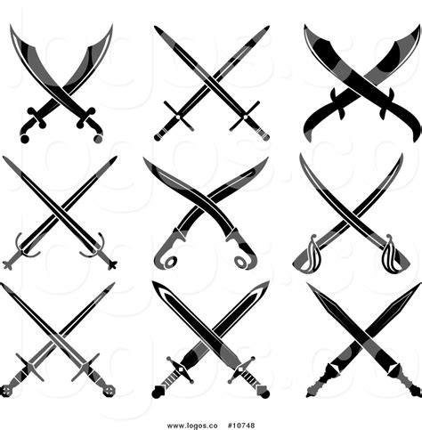 swords crossed clipart 28