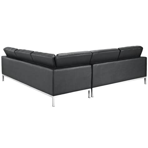l shaped leather sectional bateman leather l shaped sectional sofa modern furniture