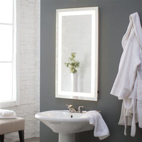 rectangular bathroom mirror afina illume led backlit rectangular bathroom mirror il