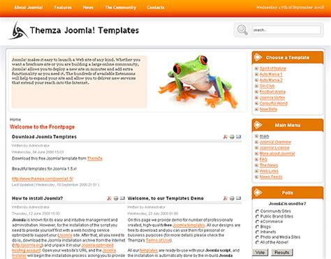 Joomla Template Builder Software free joomla 1 5 x templates mini website builder by themza