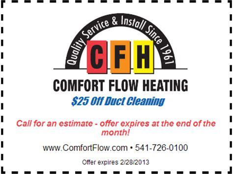 comfort flow heating 25 off duct cleaning comfort flow heating