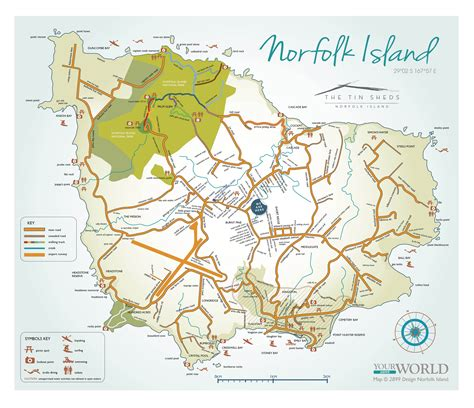 norfolk island map norfolk island map activities the tin sheds