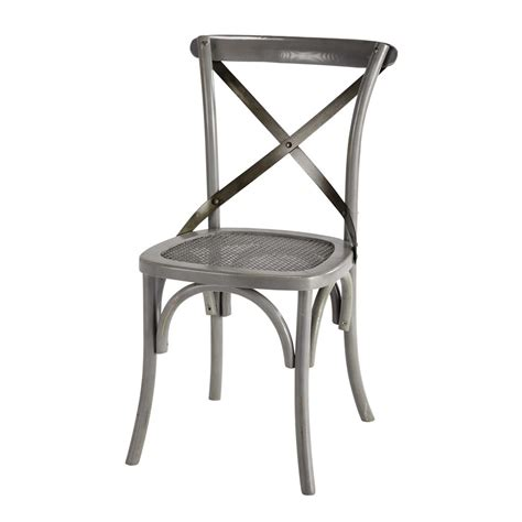 chaise grise but chaise bistrot grise tradition maisons du monde