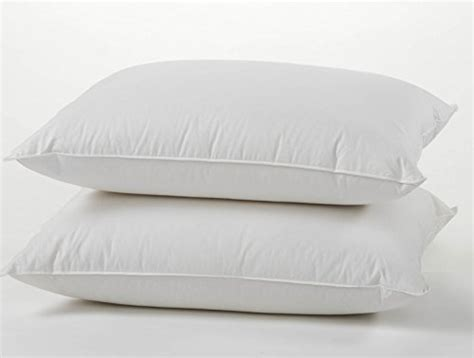goose down bed pillows set of 2 luxury goose feather and down bed pillows