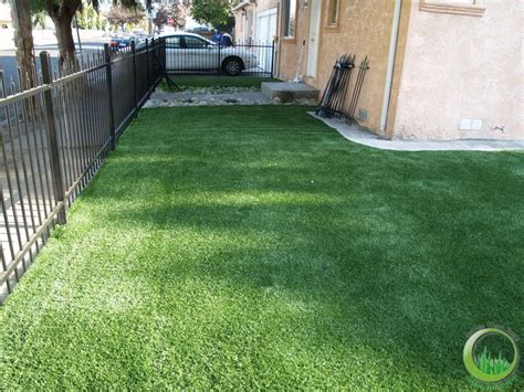 artificial grass front yard shape lawn in the backyard in novato california