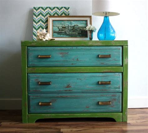 Turquoise Media Cabinet by Turquoise And Green Broyhill Dresser Media Console