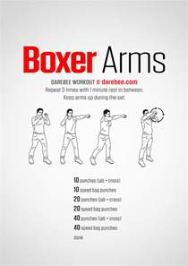 Very Small Desk Boxer Arms Workout