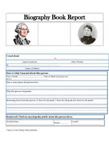 biography report template best photos of biography book report templates elementary