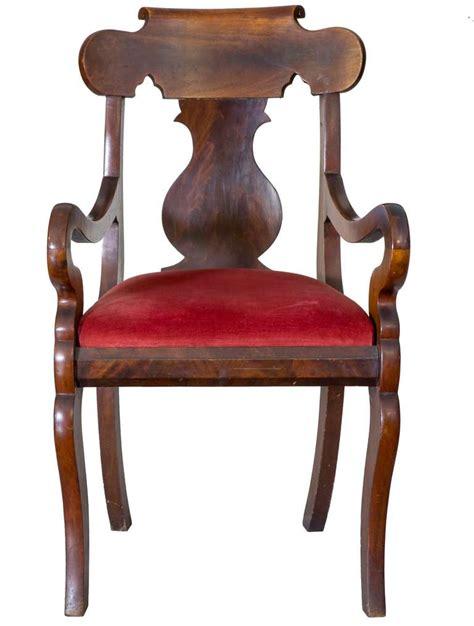 mahogany armchair mahogany neoclassical armchair boston circa 1830 for