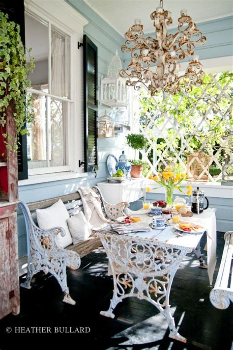 through the seasons dining with outdoor benches artisan crafted iron furnishings and decor blog