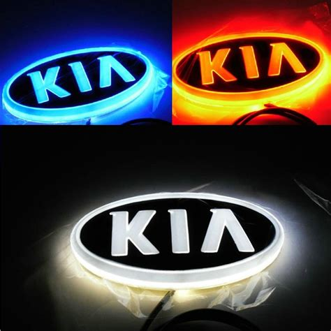 Kia 3 0 Badges Free Shipping Car Logo Light For Kia 2 3 Car Badge Light