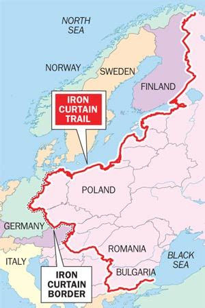 iron curtain countries map iron curtain map