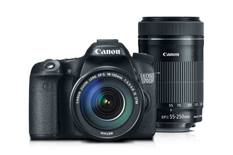 Kamera Canon Eos 70d Kit 18 135mm canon eos 70d ef s 18 135mm is stm kit with ef s 55 250mm