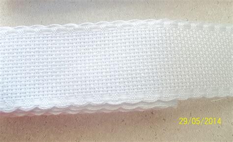 cenefas para bordar cenefa para bordar punto de rollo 3 5cm 25m blanco