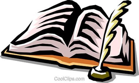 clipart libri libro e penna d oca immagini grafiche vettoriali clipart