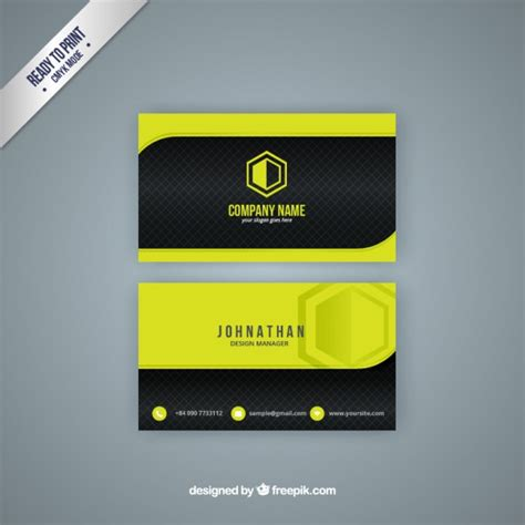 yellow and black business card vector free download