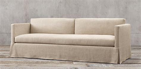 restoration hardware fabric sofas restoration hardware belgian linen sofa building walnut
