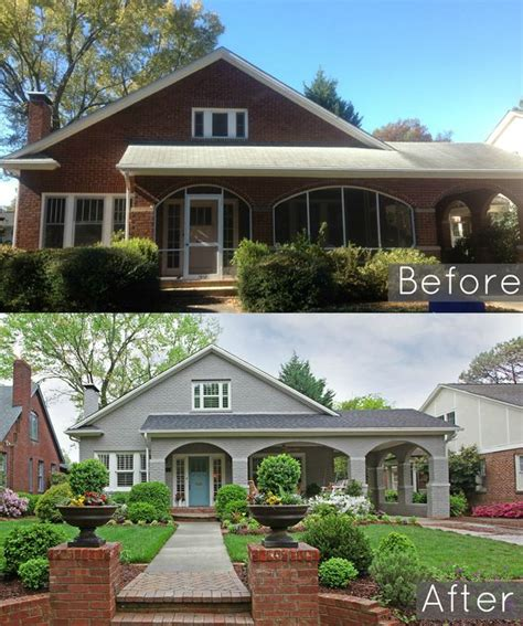 before and after lowes brick panel painted white brick backsplash faux brick shop house paint colors painted brick exteriors and grey on pinterest