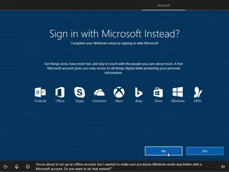 install windows 10 without microsoft account install windows 10 creators update without microsoft account