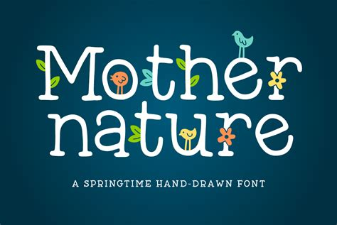 design font bundles mother nature font by denise chandler font bundles