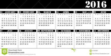 Calendario 52 Semanas 2016 Kalender 2016 Med Helgdagar Calendar Template 2016