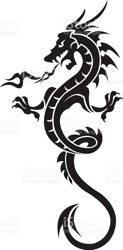 dragon tattoo vector free dragon tattoo stock vector art more images of art