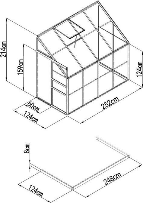 serre de jardin polycarbonate adoss 233 e 3 15 m 178 base