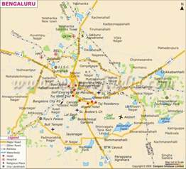 Bangalore India Map by Bangalore City Map