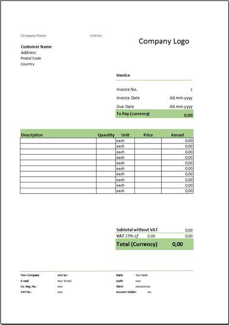 Musterrechnung Auf Englisch Kostenlose Rechnungsvorlage Herunterladen Deutsche