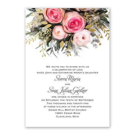 Wedding Invitation Options by Ethereal Garden With Wording Options Foil Invitation