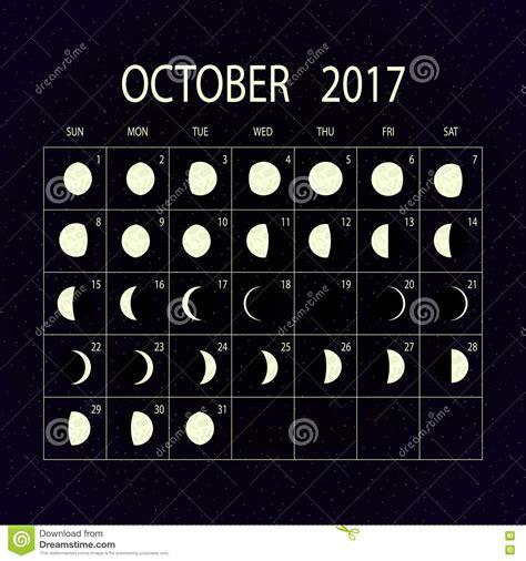 a lua p 245 e em fase o calend 225 para 2017 outubro
