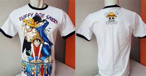 Kaos Luffy Sabo Ace berita jepang bandung jual kaos t shirt anime