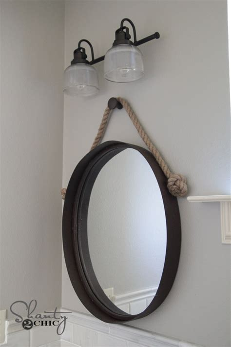 farmhouse bathroom vanity mirror diy farmhouse bathroom vanity shanty 2 chic