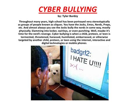 thesis about bullying slideshare cyber bullying powerpoint