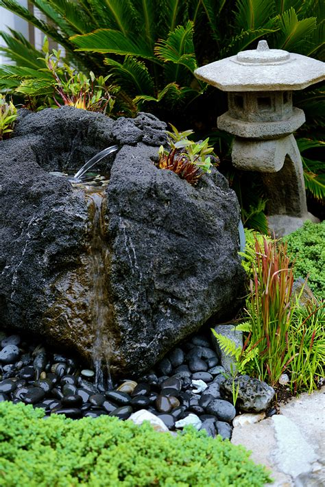 volcano lava rock feather carved by japanese