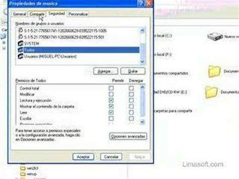 Compartir Archivos Ficheros En Xp Con Password