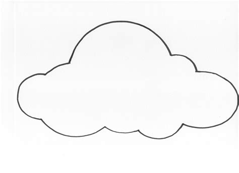 cloud template with lines 6 best images of cloud template printable cloud cut out