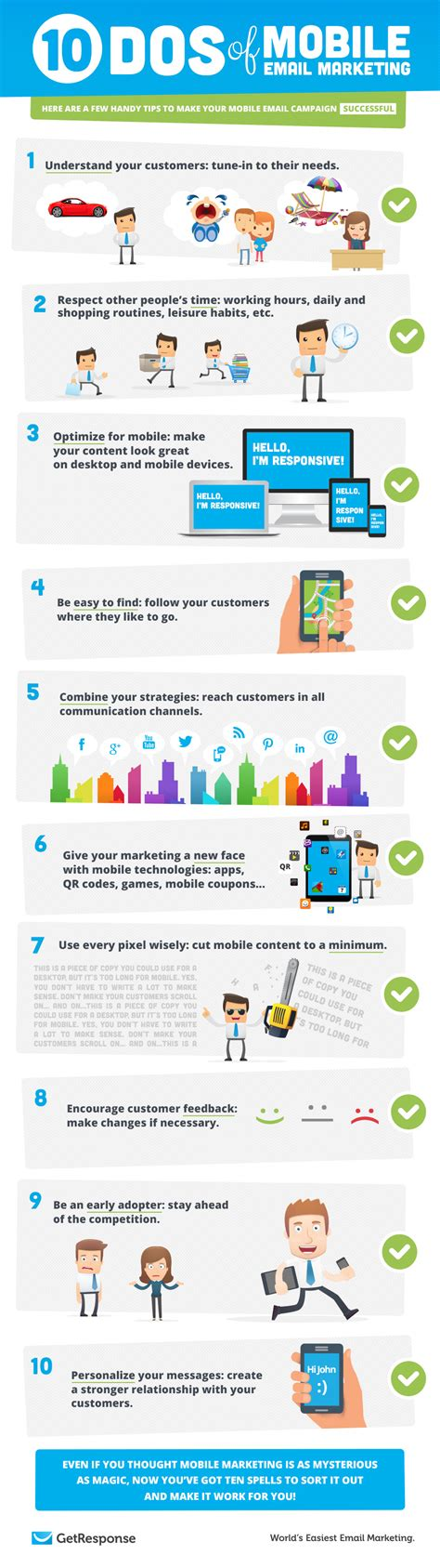 mobile email marketing 10 dos of mobile email marketing infographic