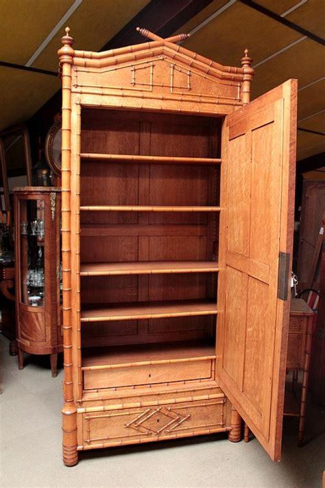 armoire en bambou armoire quot bambou quot en erable et cerisier xxeme antiquites