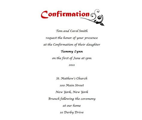 free confirmation invitation templates confirmation free suggested wording by theme geographics