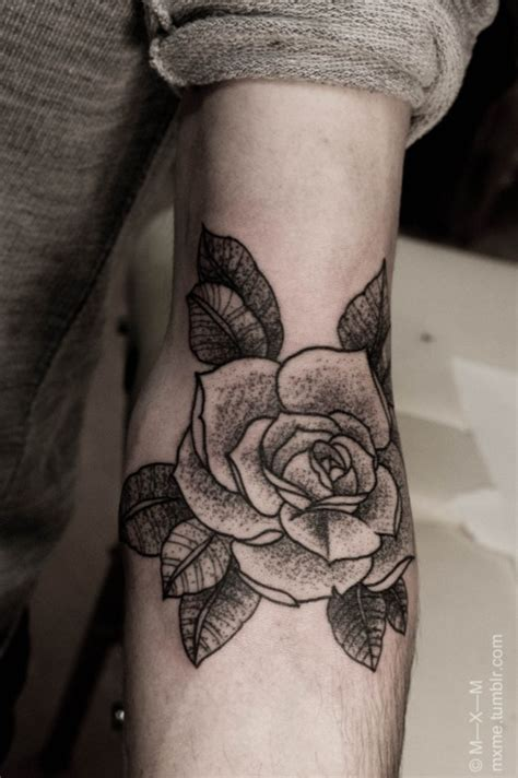rose arm tattoo tumblr beautiful black on arm best ideas