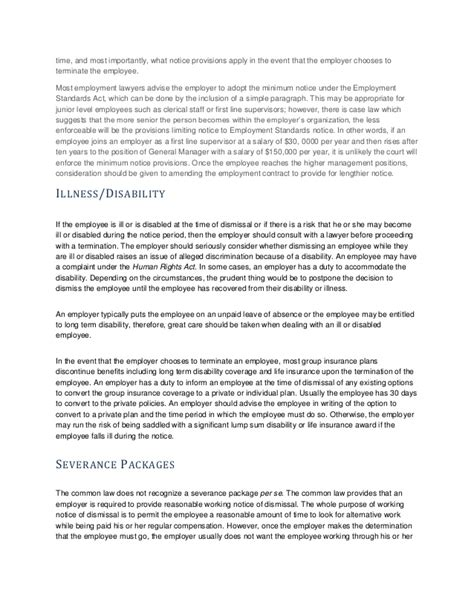 Contract Prolongation Letter Human Resources Insight Termination Manual