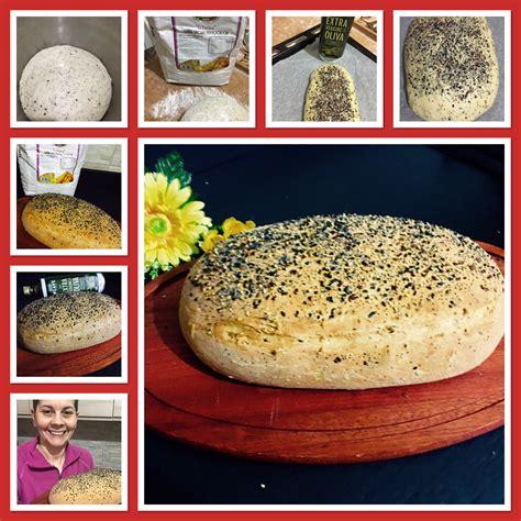 olio di sesamo per cucinare pane focaccia olio e sesamo in cucina con frollina