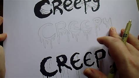draw creepy letters youtube