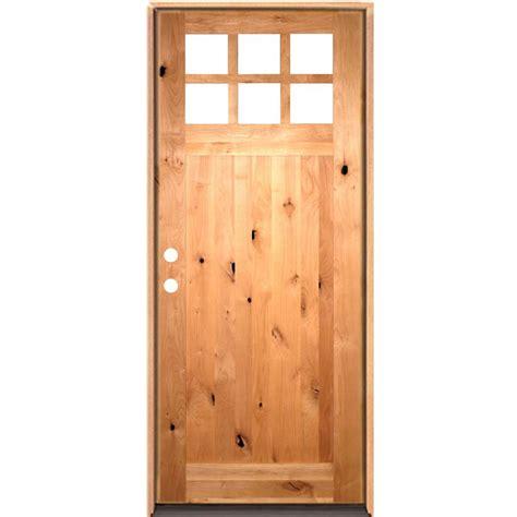 36 X 96 Wood Front Door by Krosswood Doors 36 In X 96 In Craftsman 6 Lite W Clear