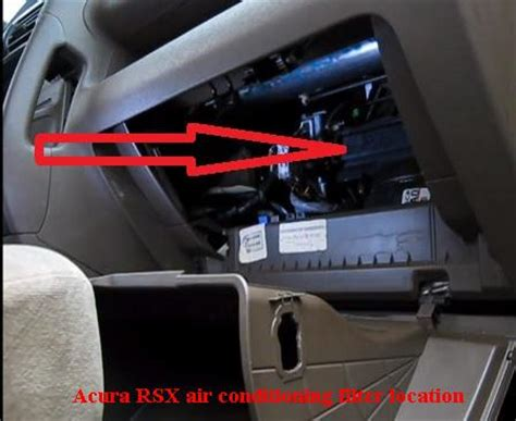 acura rsx cabin air filter location filterlocation com