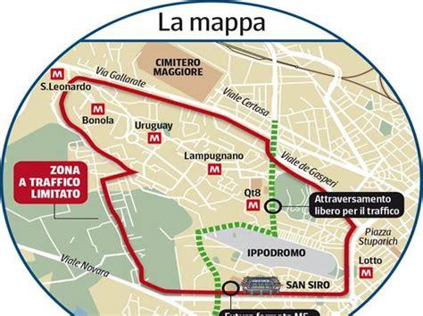 ingressi san siro mappa l area dello stadio vietata alle auto 171 in metr 242 per