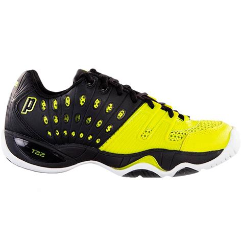 prince t22 s tennis shoes black green