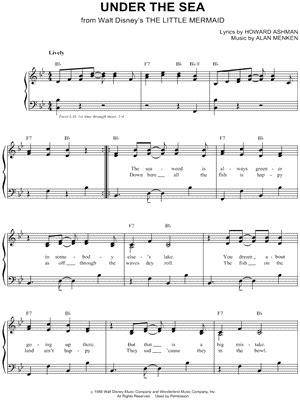 piano tutorial under the sea ukulele ukulele chords under the sea ukulele chords